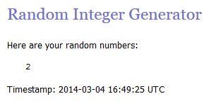 Random integer